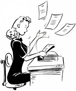 A_Woman_Sitting_At_a_Desk_Sorting_Papers_Royalty_Free_Clipart_Picture_100404-002574-795053