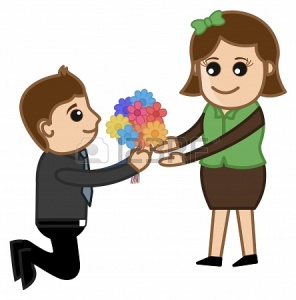 20728784-man-proposing-a-girl-with-flower-bunch