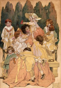 Art A WOMAN SURROUNDED BY CHILDREN by Jessie Wilcox Smith