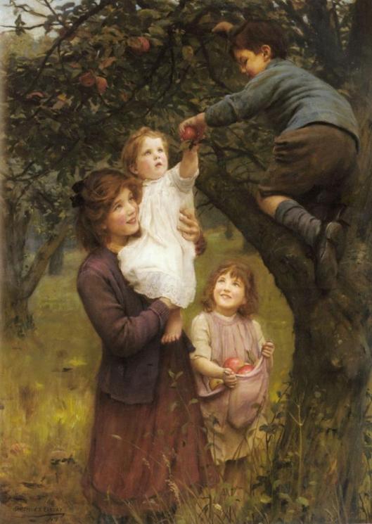 Arthur John Elsley - Picking Apples _1919_