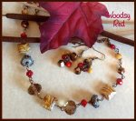 Woodsy Red Necklace Set, antique brass-plated wire-wrapped. https://www.etsy.com/listing/165990172/woodsy-red-necklace-set-antique-brass?ref=shop_home_active_20