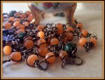 Beautiful Brass Wire Wrapped, Durable Orange Rosary. https://www.etsy.com/listing/180759710/beautiful-brass-wire-wrapped-durable?ref=shop_home_active_24,