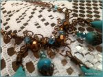 FERN FROND Briolette Necklace Set with Turquoise Stone Briolettes Accented with Sparkling Brown Glass Beads. https://www.etsy.com/listing/199487103/fern-frond-briolette-necklace-set-with?ref=shop_home_active_1