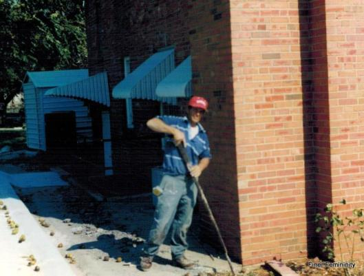 Vincent bricklaying