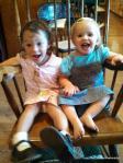 Emma and Grace....two loveable grandchildren!