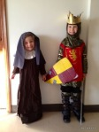 Caleb and Rachel....St. Clare and St. Luis IX. Cute!