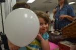 Balloons helped to keep the kids happy and occupied!