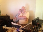 Our sound and lighting guy, Rob, with his daughter, Laura. These people are fantastic and without them, the Family weekend would be a dud! :)