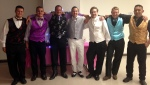 Our 15 yr. old daughter, Margy, made most of these vests for the dance.