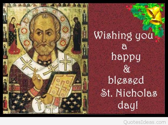 Happy St. Nicholas Day Blessing Quote