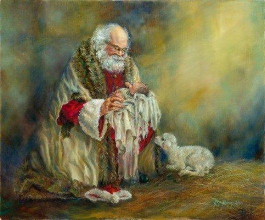 Kneeling Santa 3