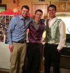 Daniel, Vince and Gabe. Michelle VanderPutten (cousin) made the vests!