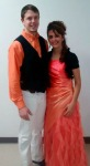 Devin and Theresa looked very handsome in their orange matching outfits!