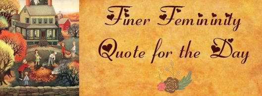 fall finer fem quote for the day