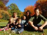 Here they are a few hours later in Maine, showing off the beautiful fall foliage!