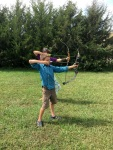 Practicing for the Robin Hood Bow Shoot this Sunday!