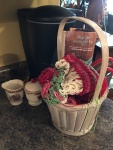 Love these baskets of projects on the go....