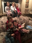 Margy reading to her nieces and nephews.