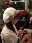 Virginia's lovely fuzzy hat!