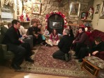 Cousin Rodney from Canada telling stories after Midnight Mass...about 3 in the morning!