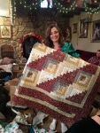 Beautiful quilt for Rosie!