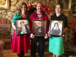 These portraits are of their patron saints, St. Rose of Lima, St. Margaret Mary and St. Vincent de Paul. This Catholic artist is amazing and they made wonderful Christmas gifts!