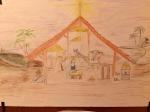 Virignia's finished Spiritual Christmas Crib.