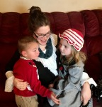 Z (our daughter-in-law), Gracie and Isaac