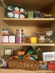 After Christmas my tea cupboard abounds!