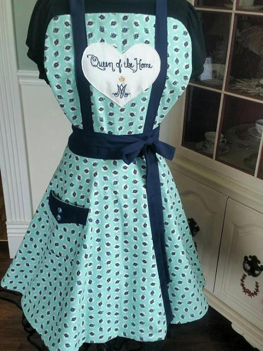 Don't forget to sign up for the Giveaway on this post: https://finerfem.com/2017/08/15/the-assumption-by-maria-von-trapp-queen-of-the-home-apron-giveaway/