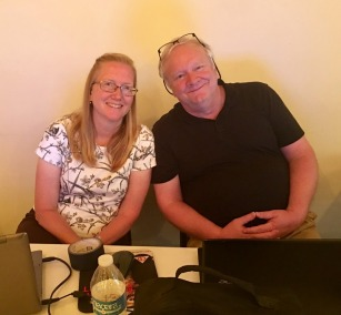 Two very special people, Rob and Cheryl, who do all the lighting and sound for the Weekends!