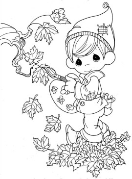 Fairy-Boy-in-in-Autumn-Season-Coloring-Page