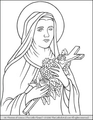 saint-therese-of-lisieux-little-flower-coloring-page