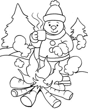 48 Winter Coloring Pages 2017