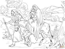 5-mary-and-joseph-flight-into-egypt-coloring-page