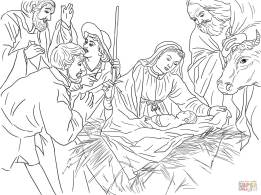 8-adoration-of-the-shepherds-by-gerard-van-honthorst-coloring-page