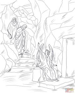 2-angel-tells-the-women-that-jesus-has-risen-coloring-page