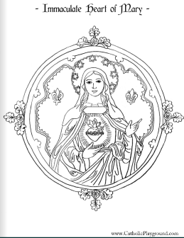 Screenshot-2017-9-29 Immaculate Heart of Mary Coloring Page Catholic Playground